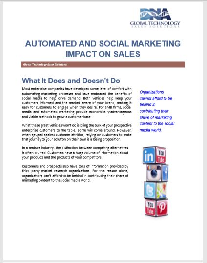 Automated and Social Marketing Impact on Sales.
