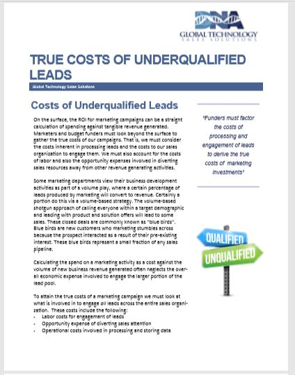 Cost of Underqualified Leads