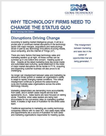 Disruptions Driving Change