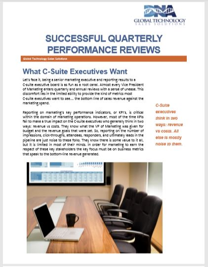 Succesful Quarterly Performance Reviews